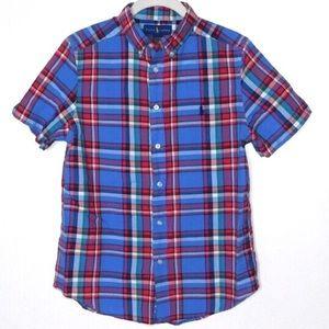 Ralph Lauren Shirt Boys Large 14-16 Red & Blue